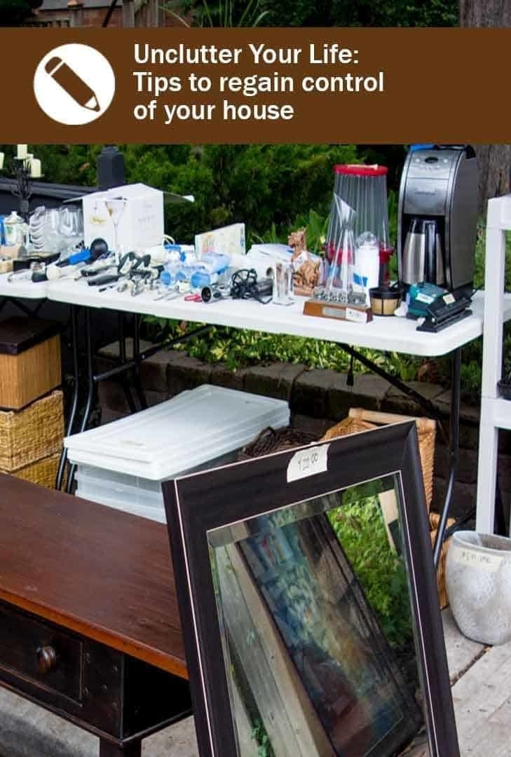 Unclutter your life - picture of our last garage sale