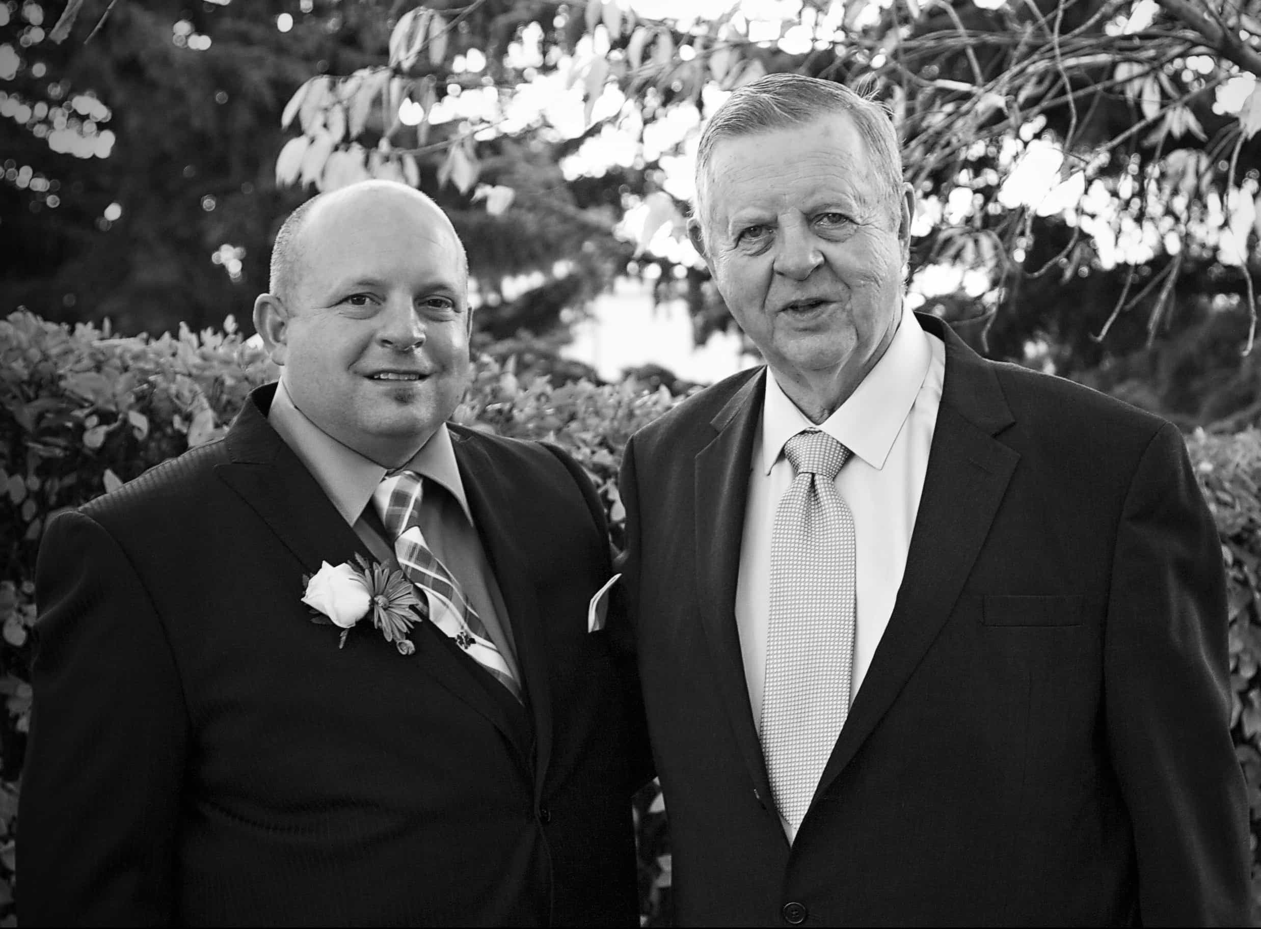 Dorene's Dad And Her Brother Tom At His Wedding October, 2014