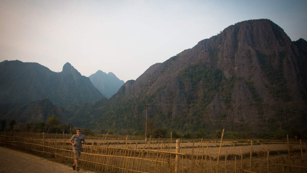 Running In Vang Vieng (1 Of 1)