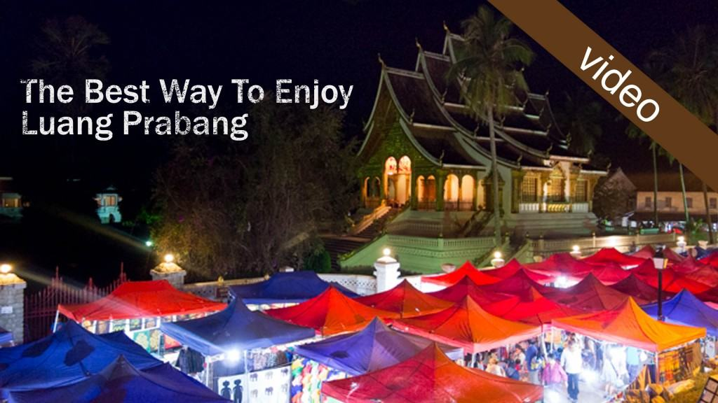 Luang Prabang picture of night market and city