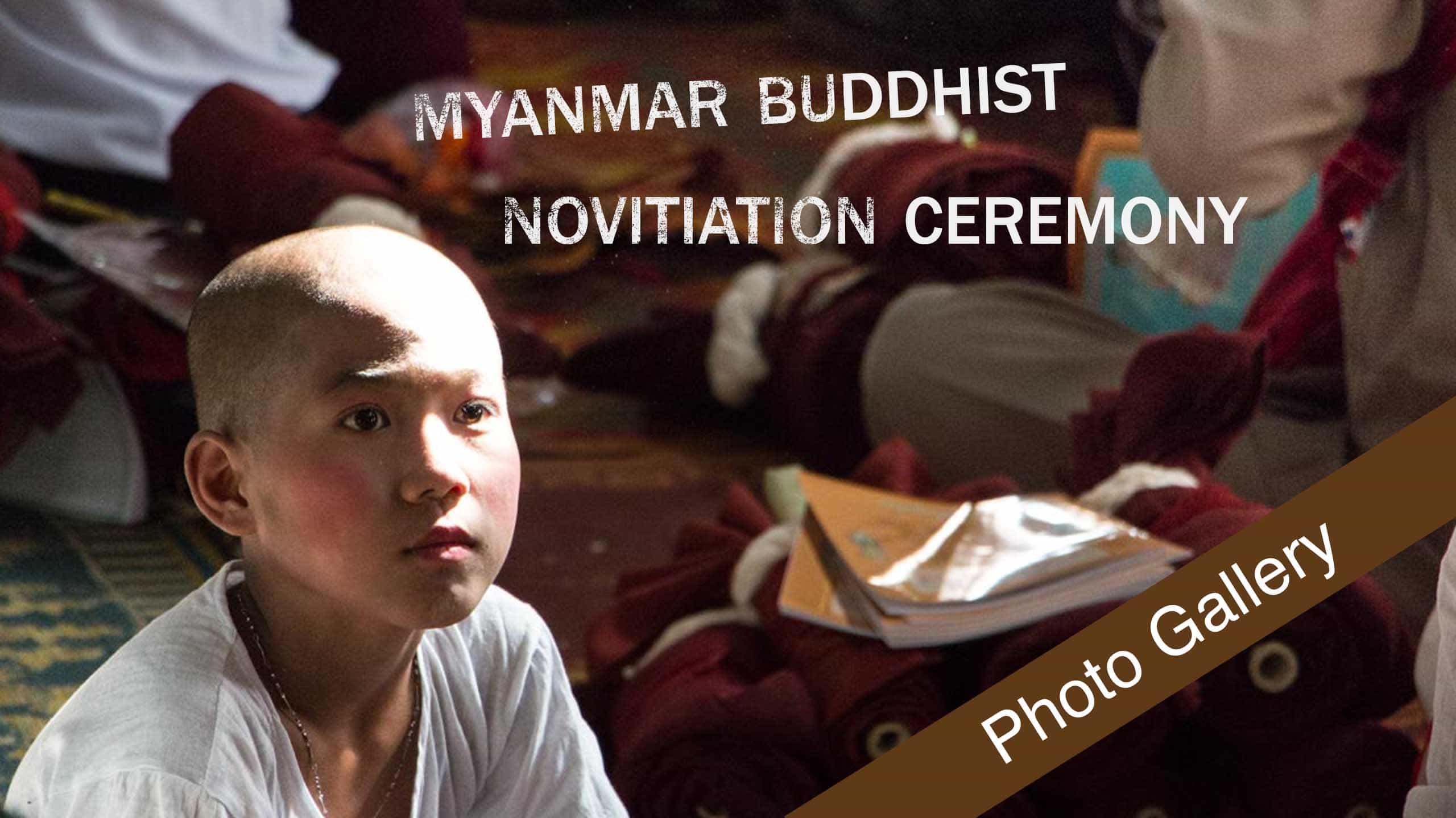 Novitiation Ceremony In Myanmar – Photos