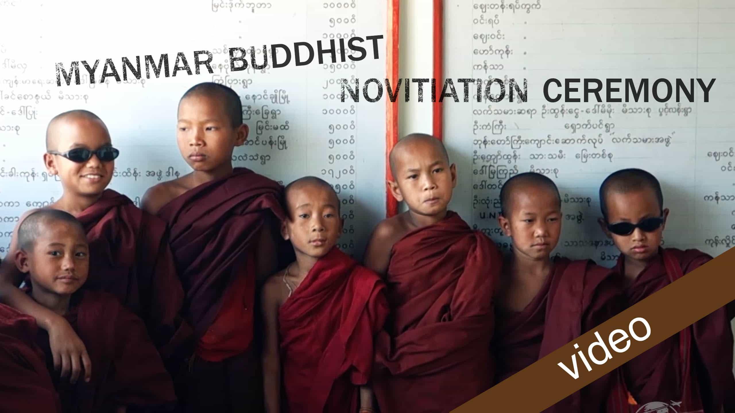 Buddhist Novitiation Ceremony In Myanmar
