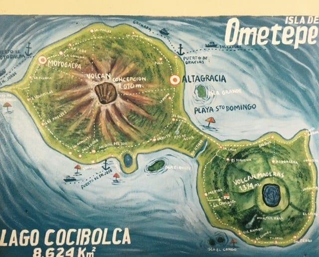 Ometepe Island Map