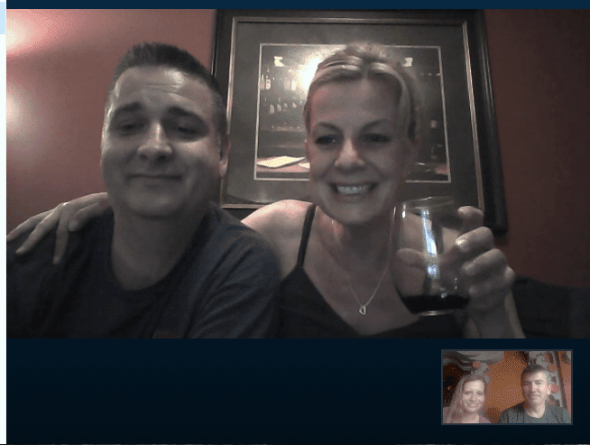 Hiedi and Shayne on Skype