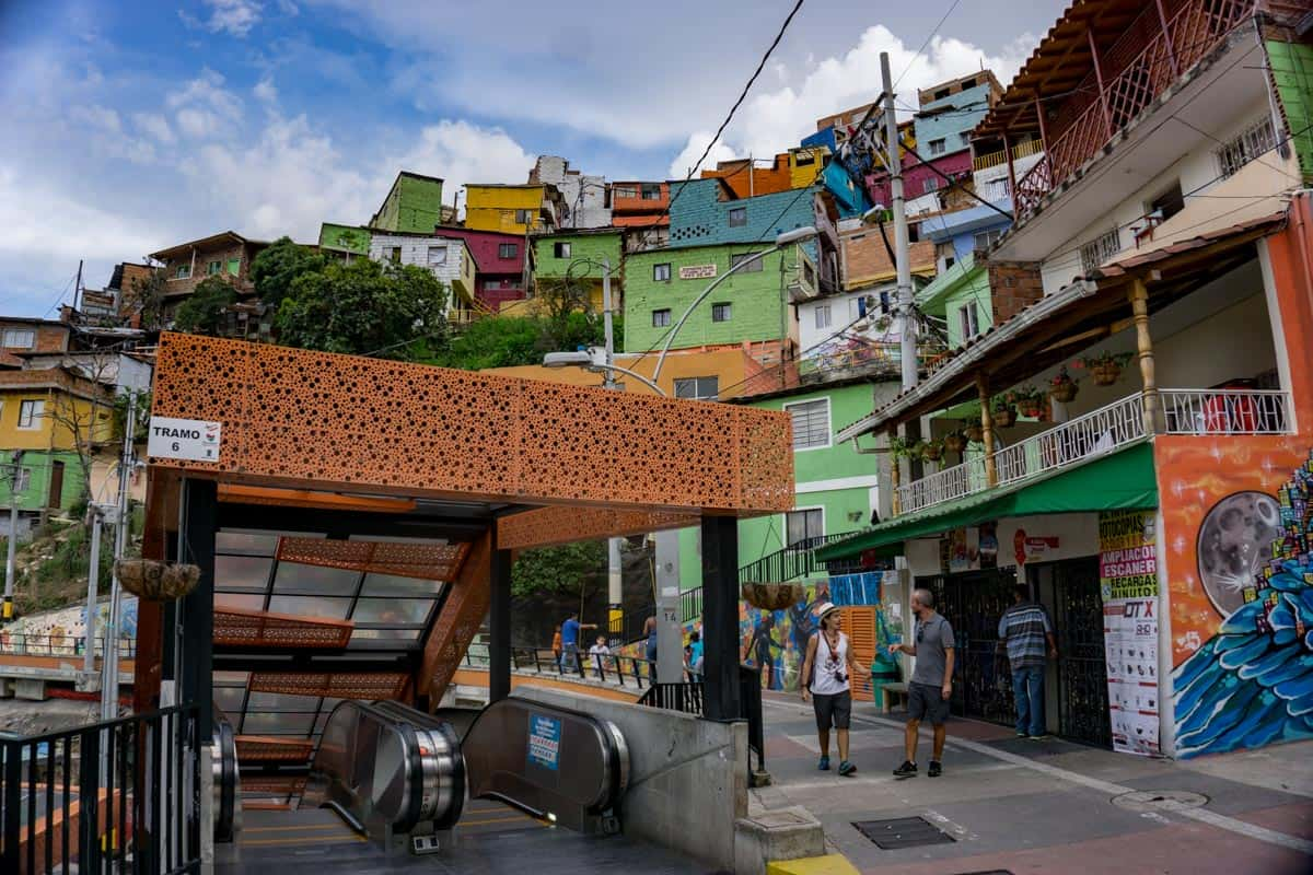 The Comuna 13 Escalator some of the best things to see in 2 weeks in Colombia