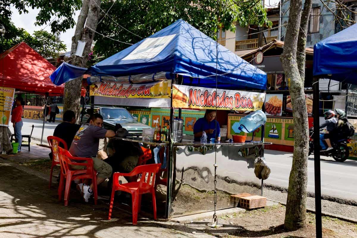 Guatapé street food and bars