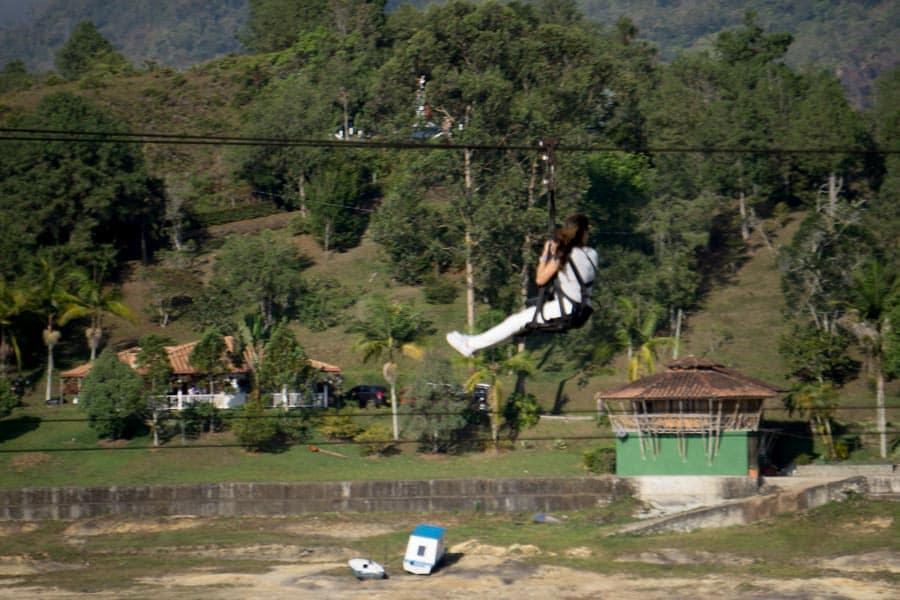 Guatapé ziplining