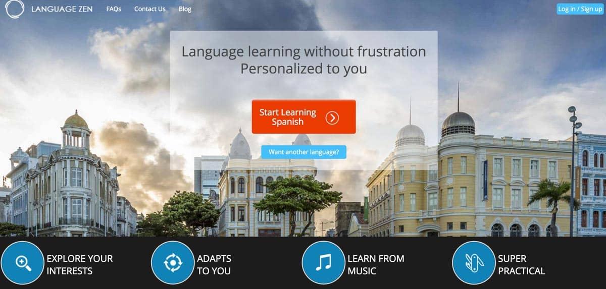 digital language learning app - Language Zen