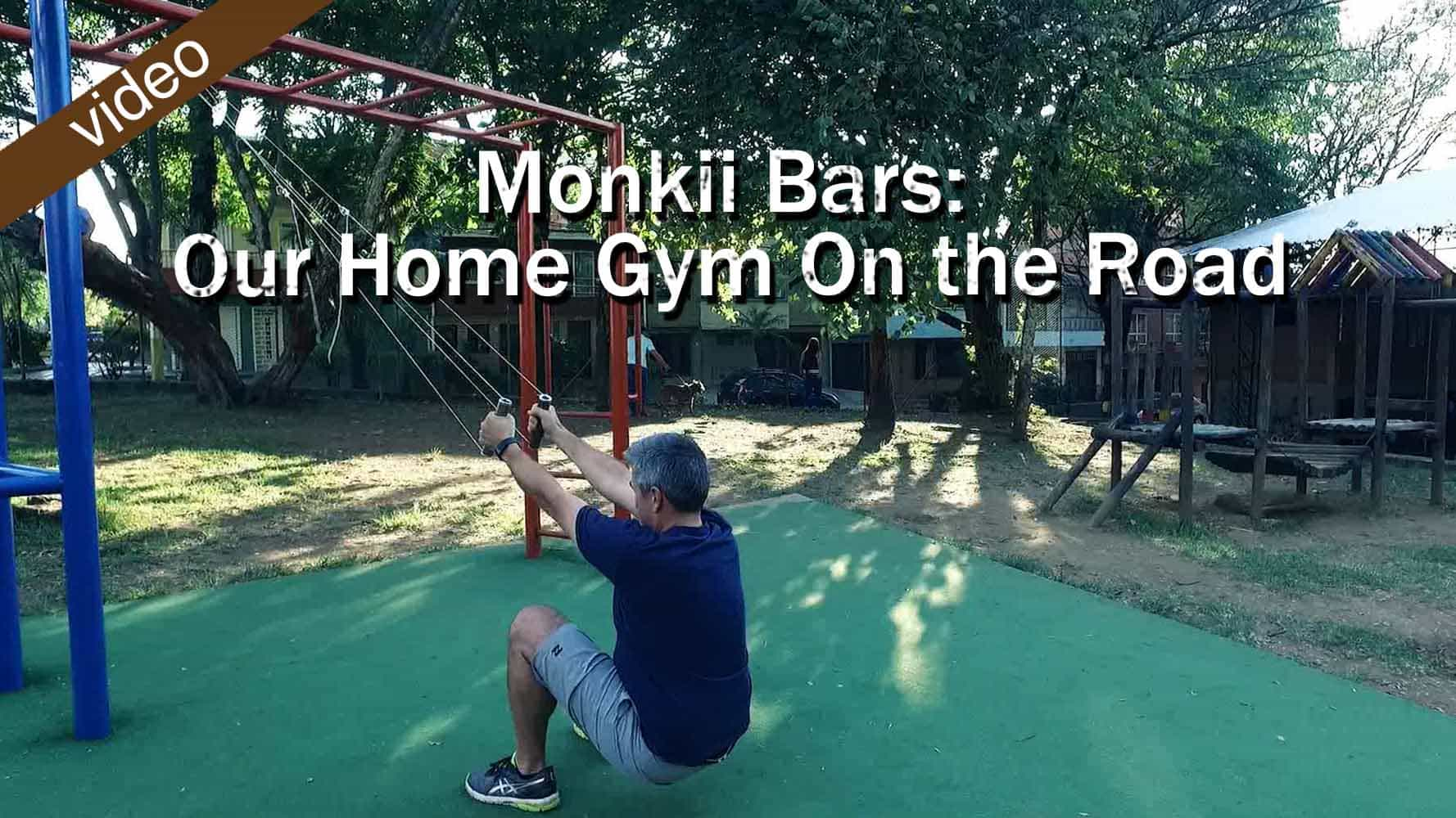 Monkii Bars  Our Home Gym On The Road FI