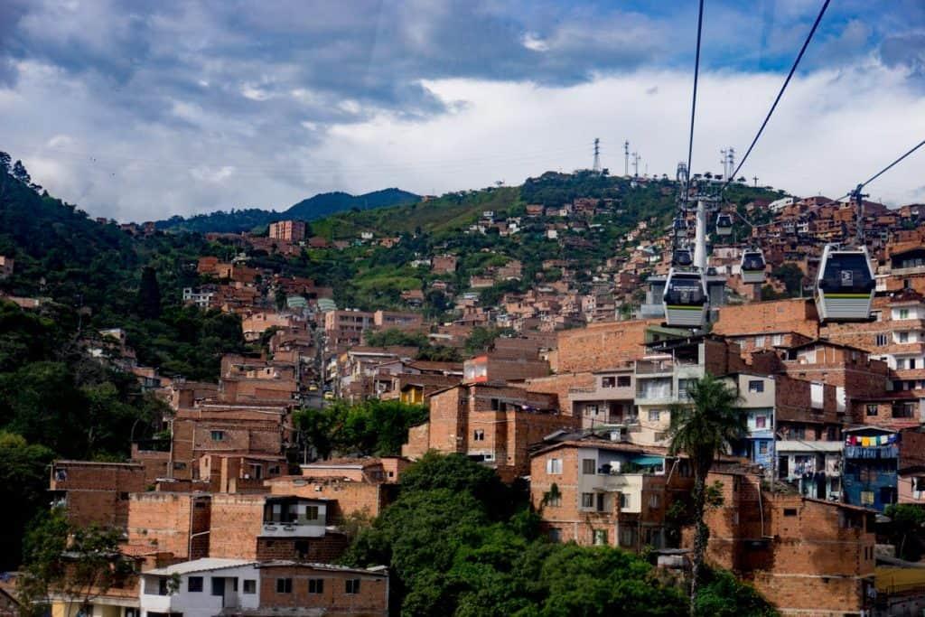 Medellin Metro Cable Park Arvi