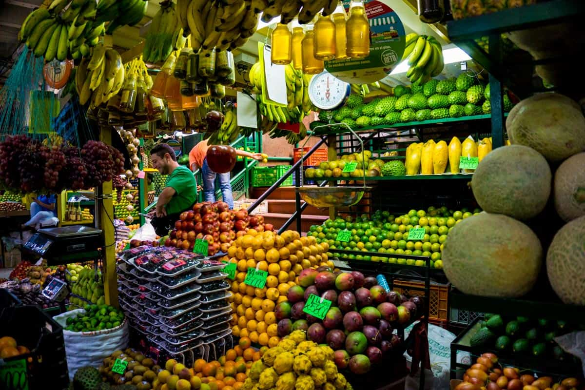 the minorista market - the best place to visit during 2 weeks in Colombia