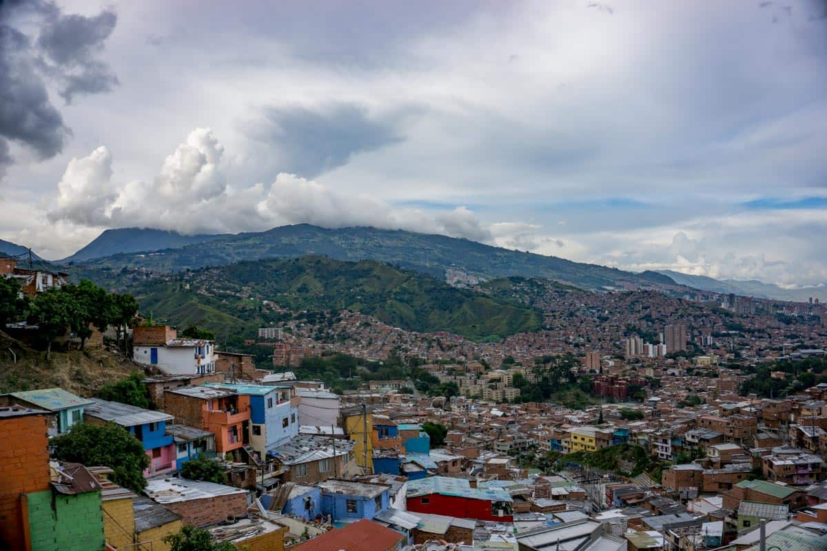 views above Medellin - one of the best places to visit during 2 weeks in Colombia
