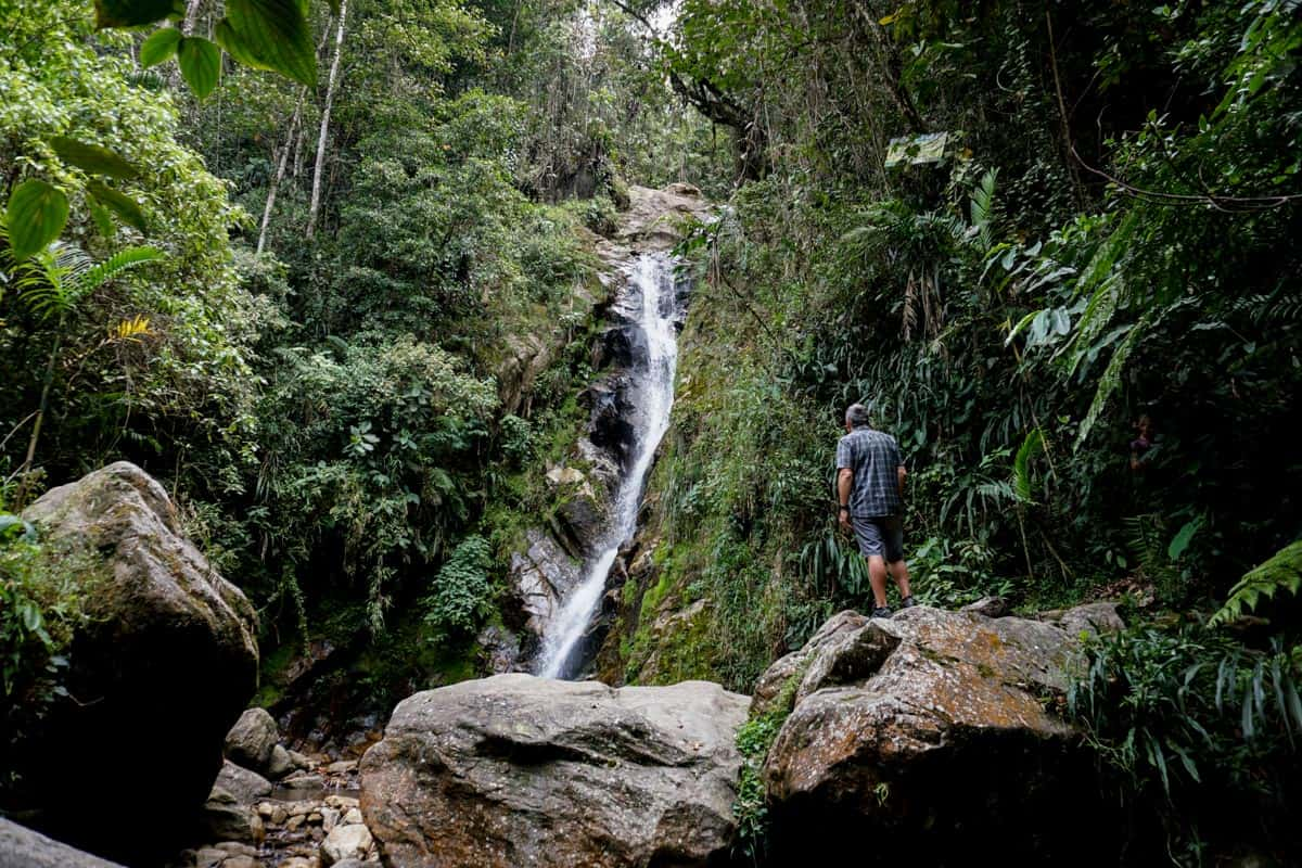 Waterfalls outside of Medellin some of the best things to see during 2 weeks in Colombia