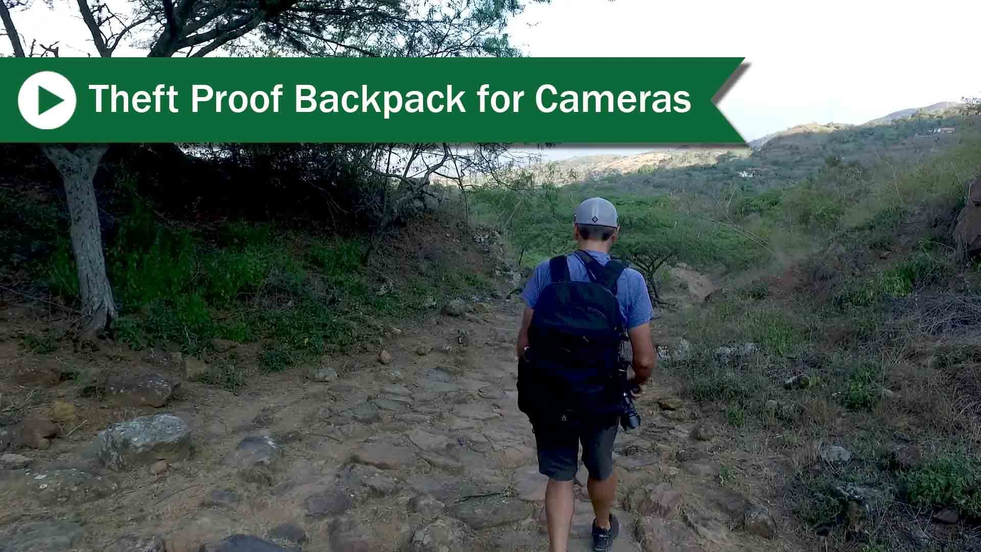 Theft proof backpack