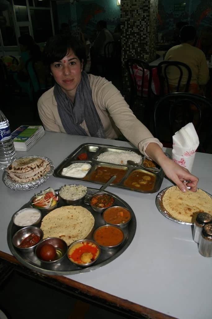 Ordering Thali in restaurants in Rishikesh