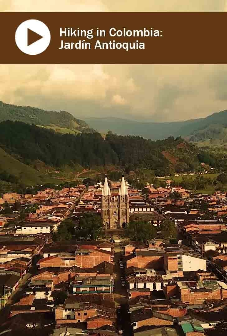 The town of Jardin, Antioquia, Colombia
