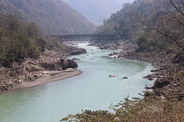 Rafting on the river in Rishikesh India