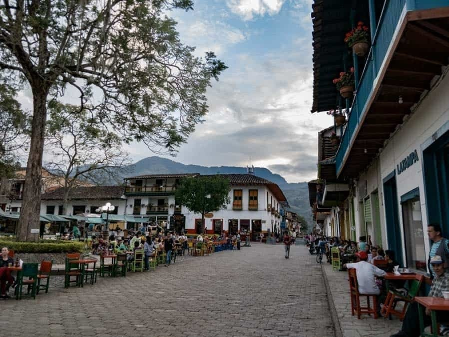 main square of jardin colombia