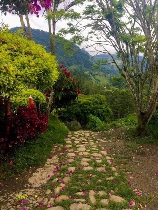 entrance to hike and climb in Jardin Colombia