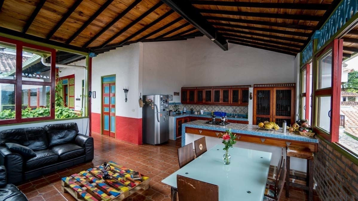 picture of casa coffee Jerico colombia homestay