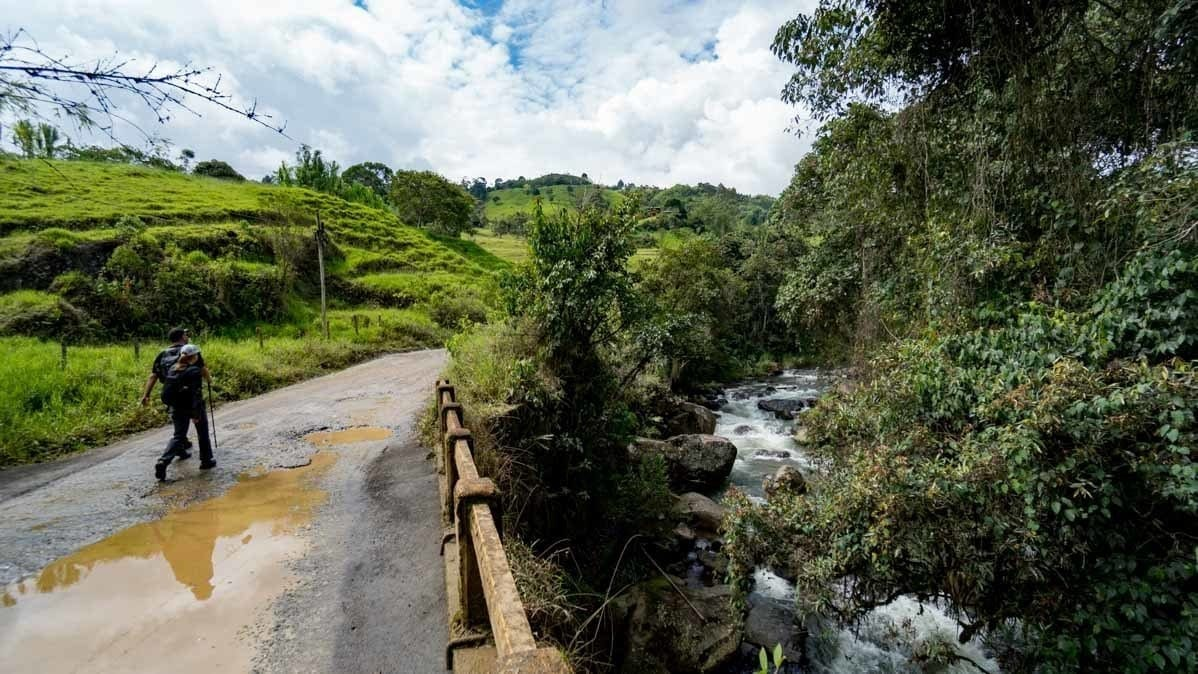 hiking trails to the Rio Piedras in Jerico Colombia