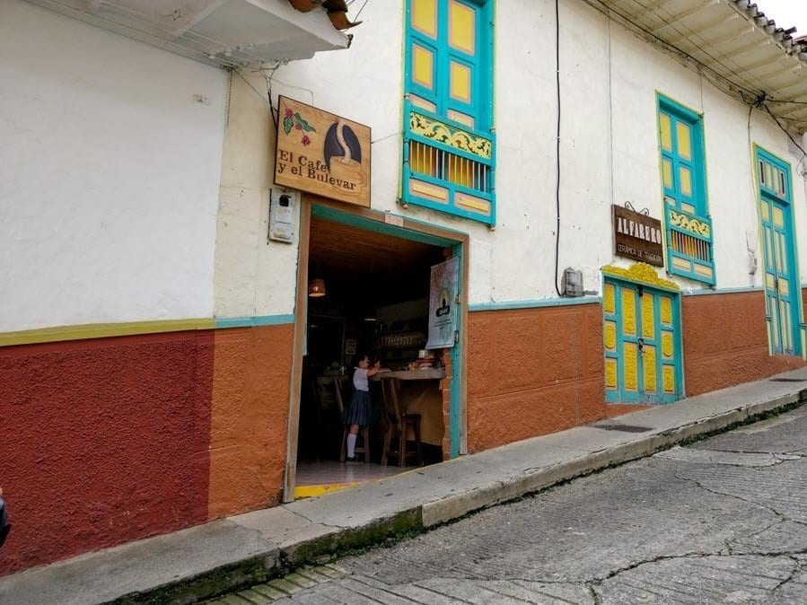 one of the many cafes in Jerico Colombia