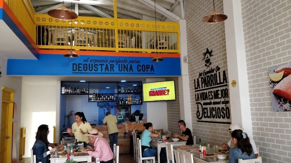 La Parilla restaurant in Jardin, Colombia