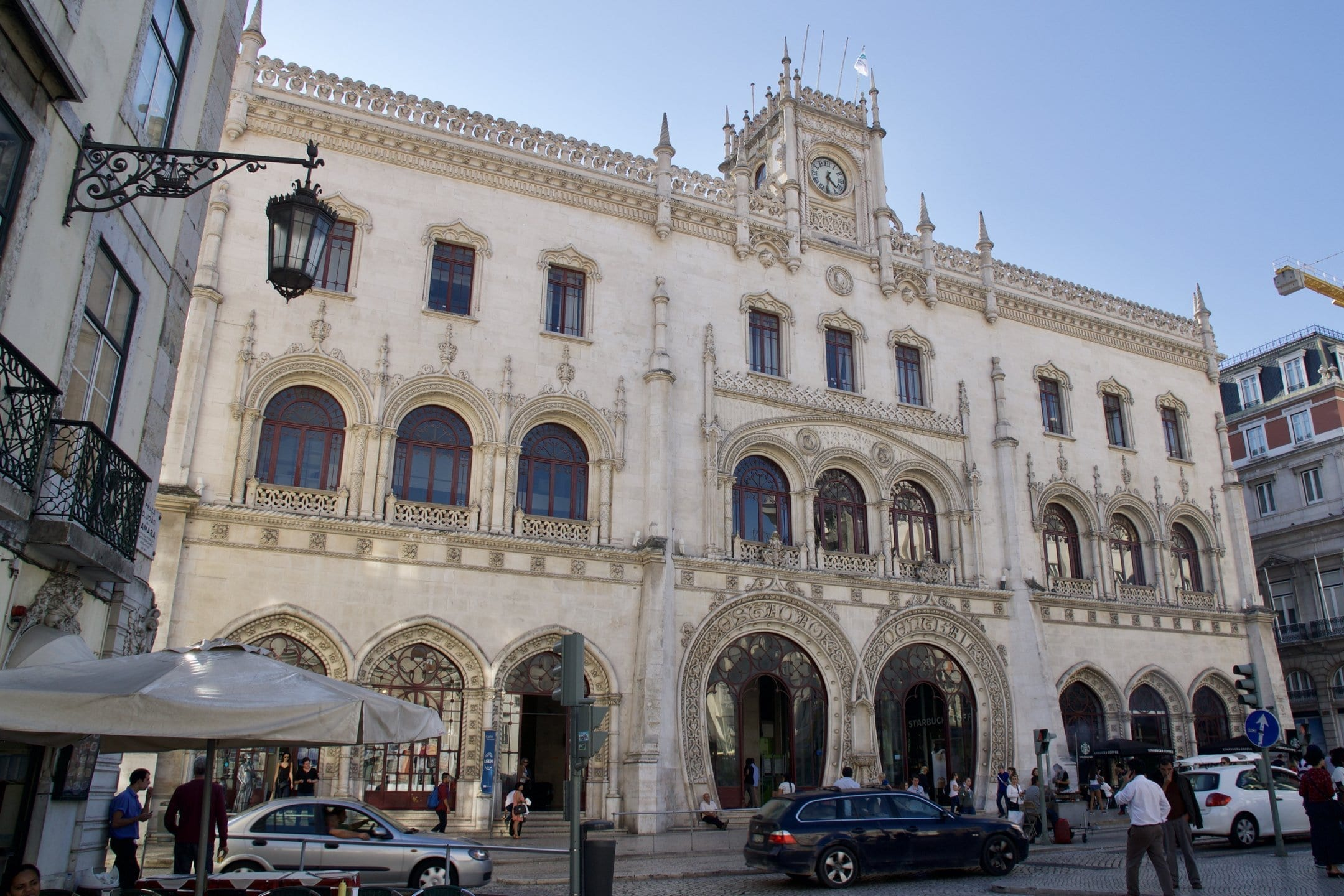 The beautiful Rossio station in Lisbon