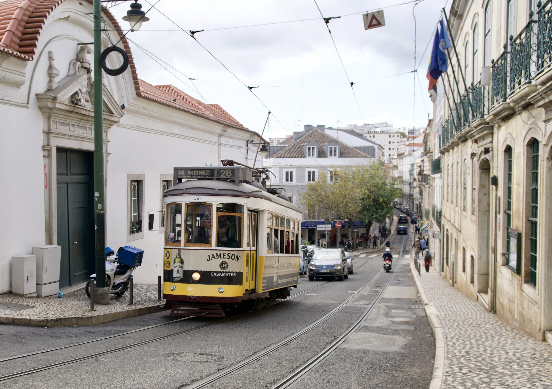 Ride the tram-one of the cool things to do in Lisbon