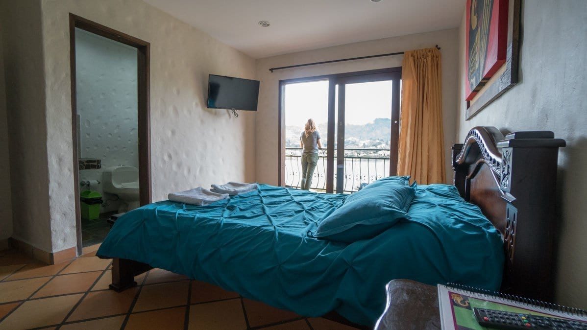 Guatape hotel room - Lakeview hostel