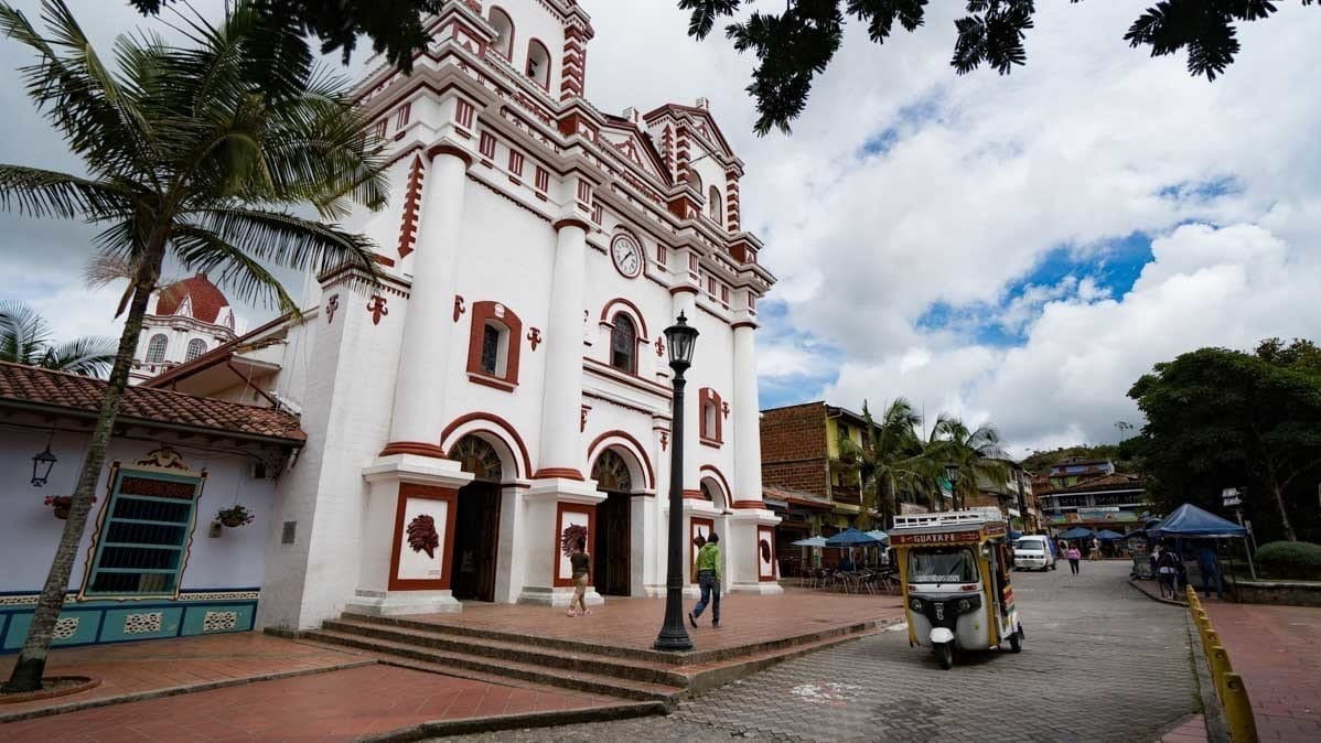 Main square church in Guatape