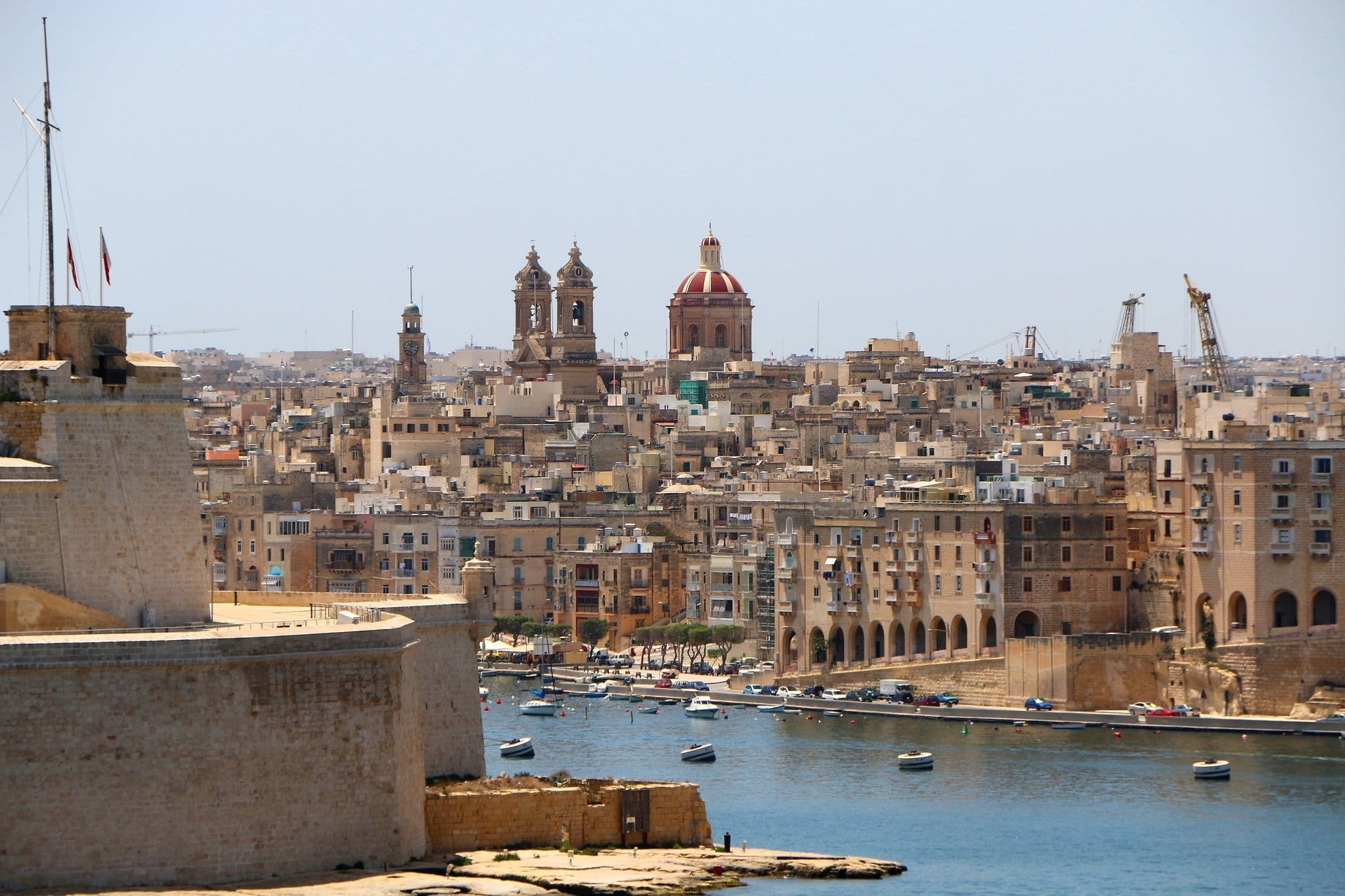 view of Vittoriosa from La Valetta in Beautiful Malta