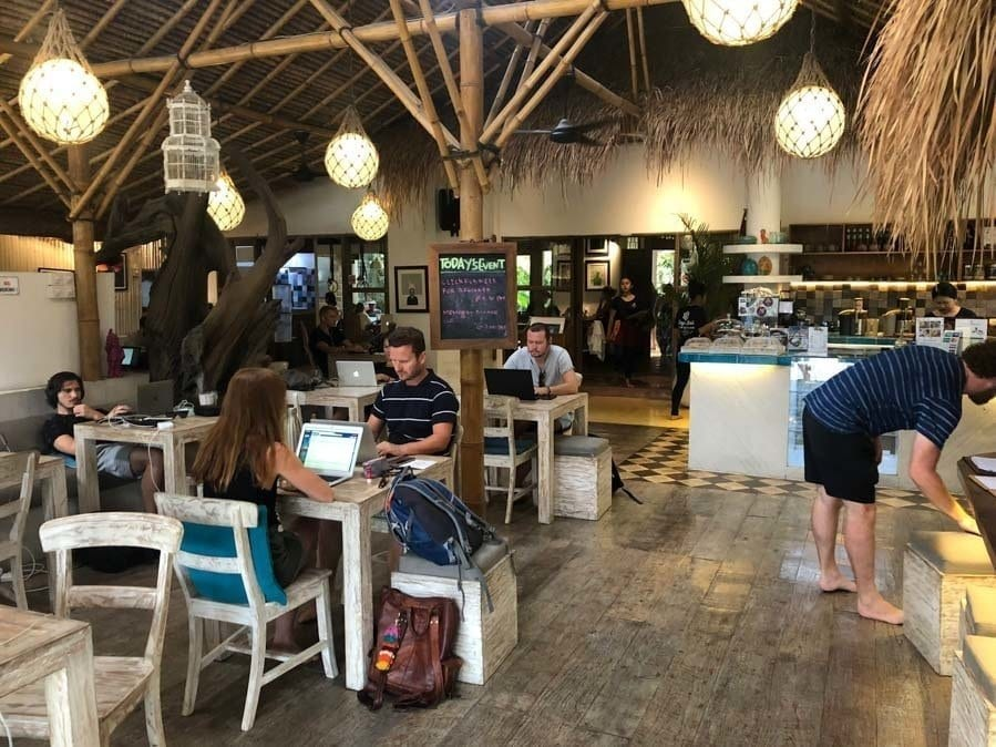 digital nomad life - a coworking space