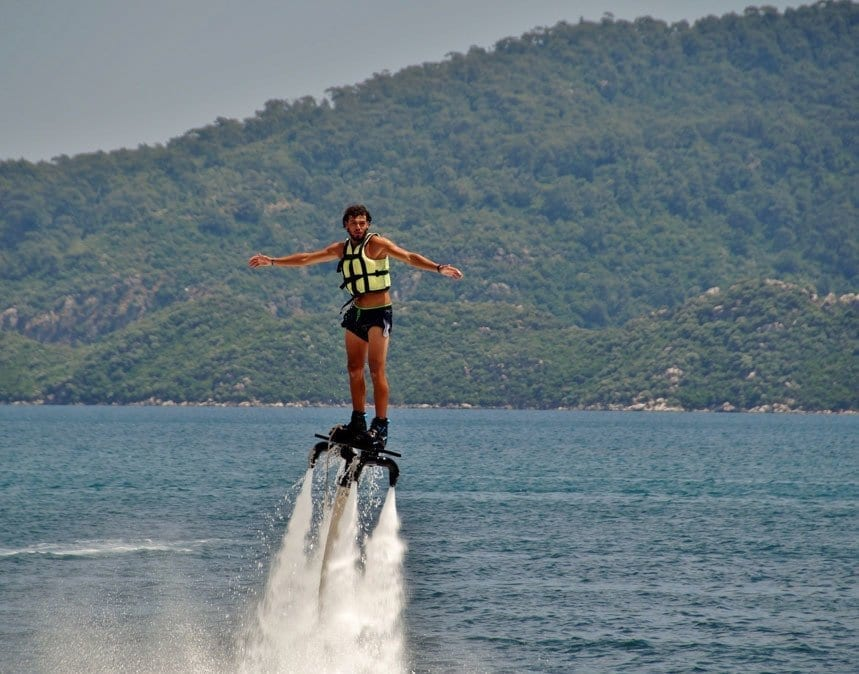 Man flyboarding in Gozo Malta