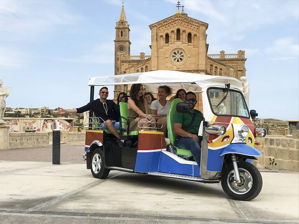 Take a tour by tuk tuk one of the things to do in Gozo Malta