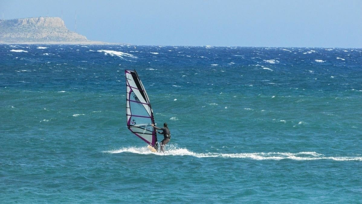 Windsurfing on the ocean one of the many things to do in Gozo