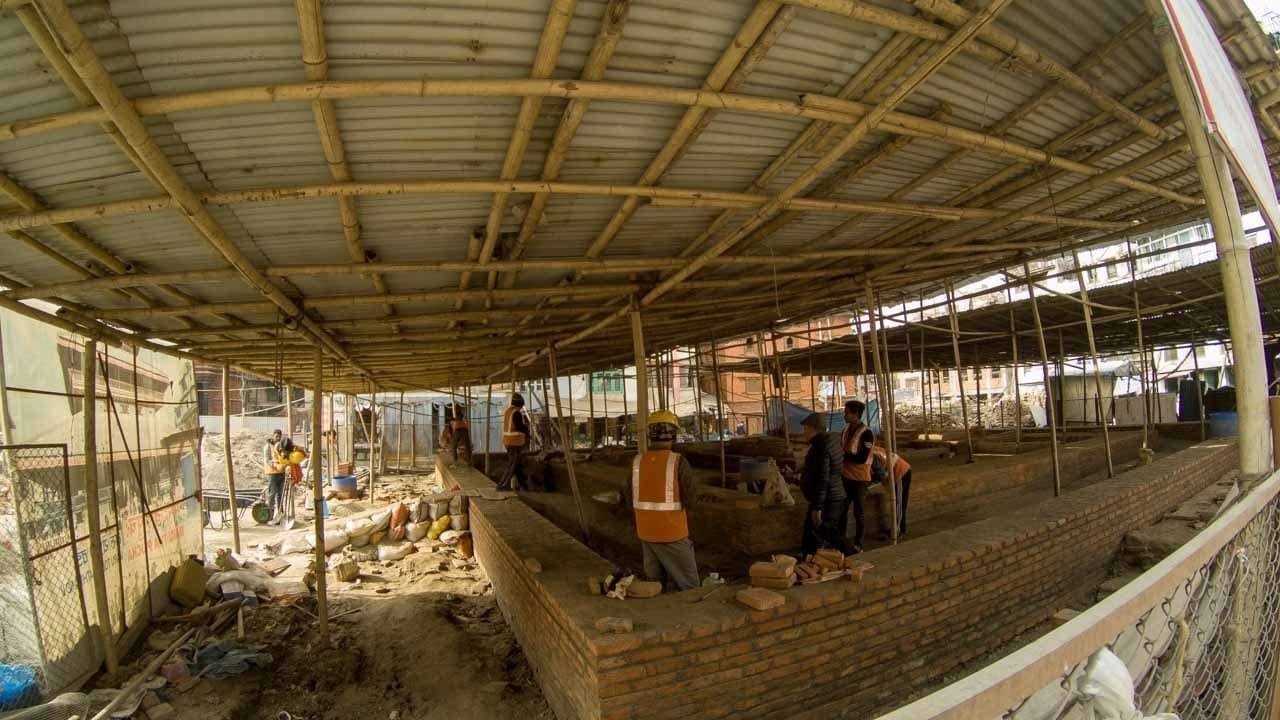 Things to know about Nepal - more rebuilding of temples in Durbar Square Kathmandu