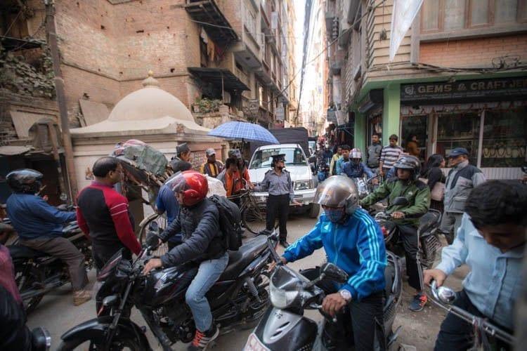 About Nepal - Kathmandu traffic jams