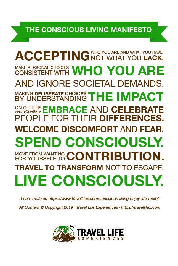 Conscious Living Manifesto