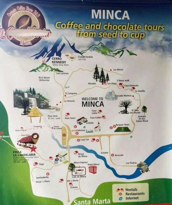 Minca Magdalena Map
