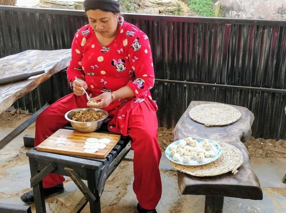 Momos - Traditional food of Nepal and found in Bandipur