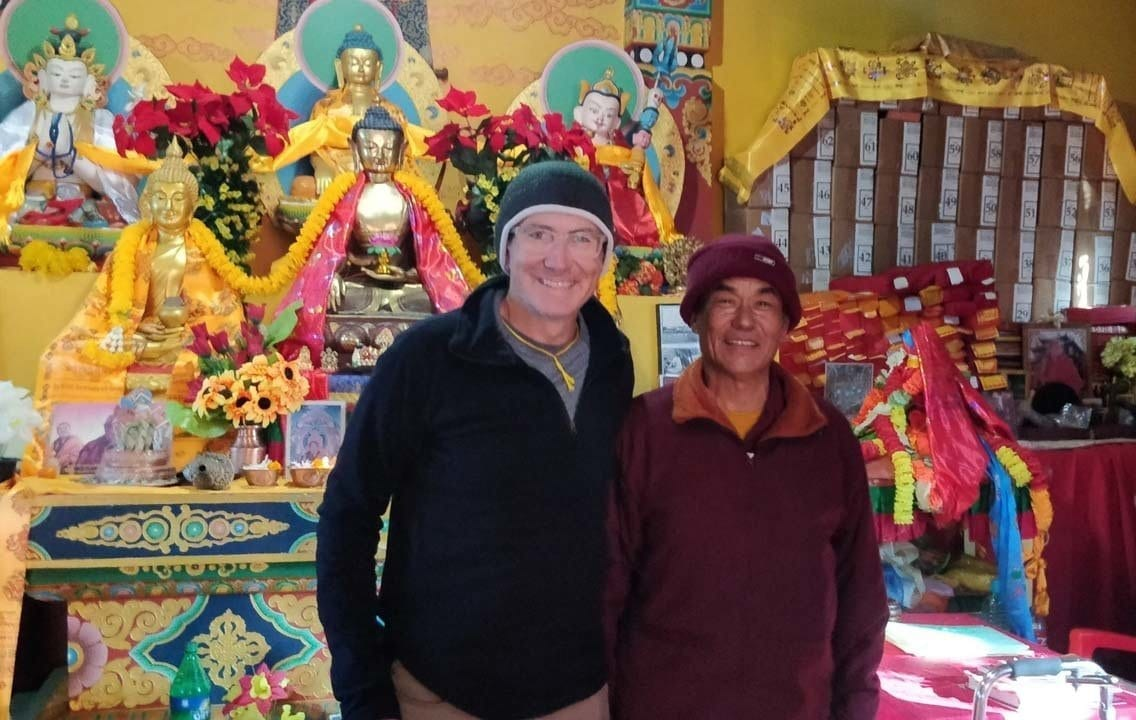 Troy wit the monk from Bandipur Nepal that we visited
