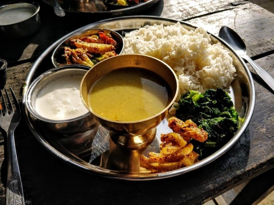 Dhal bhat from Lovin Spoonful in Bandipur Nepal