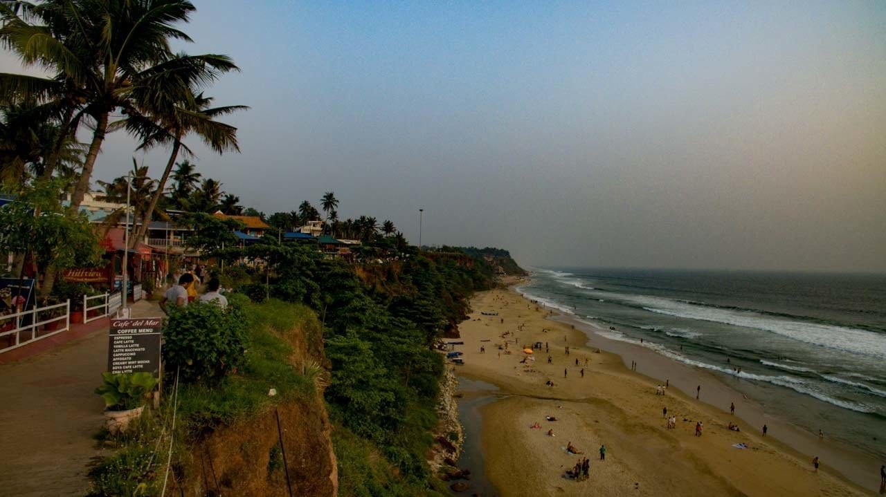 Varkala, Kerala picture on the the best holiday destinations in India in the south.