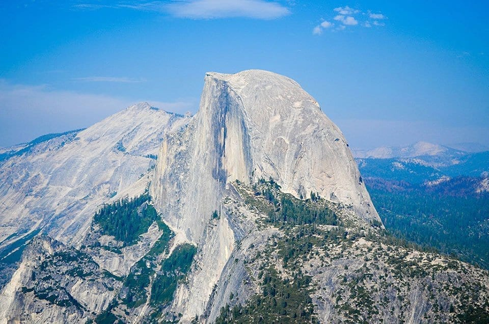 Picture of Half Dome, one of the best trails in Yosemite.