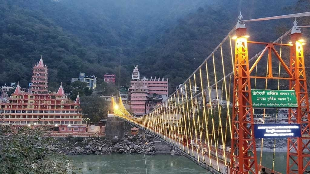 Picture of Rishikesh, one of the most beautiful places in India.