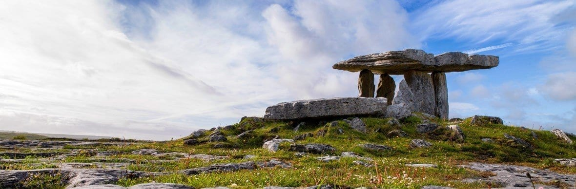 Picture of the burren in Ireland, one of the most beautiful places in Ireland