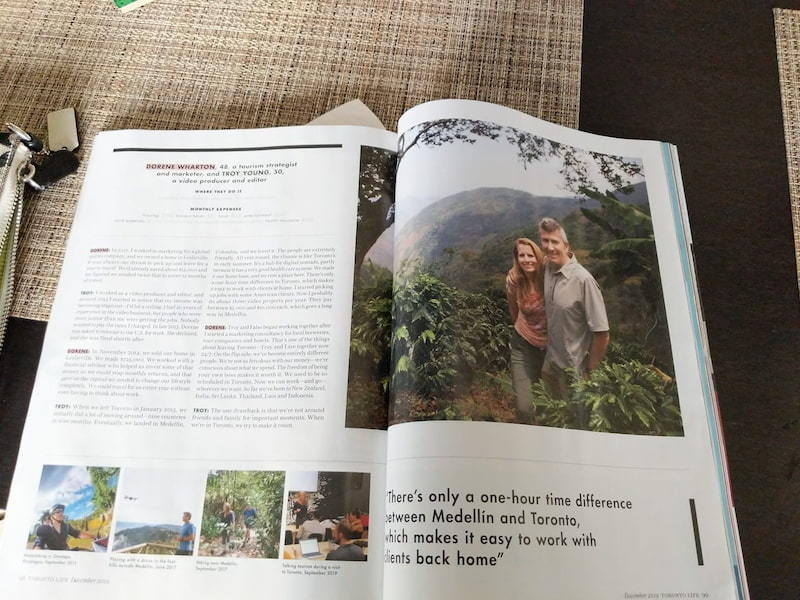 Toronto life magazine article on Digital nomad living - we were featured!